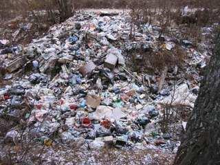 На сельхозугодьях граждане Китая устроили две крупные свалки отходов